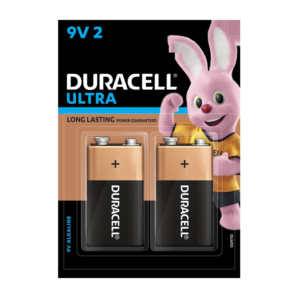 Duracell Alkaline 9V, 2 Battery