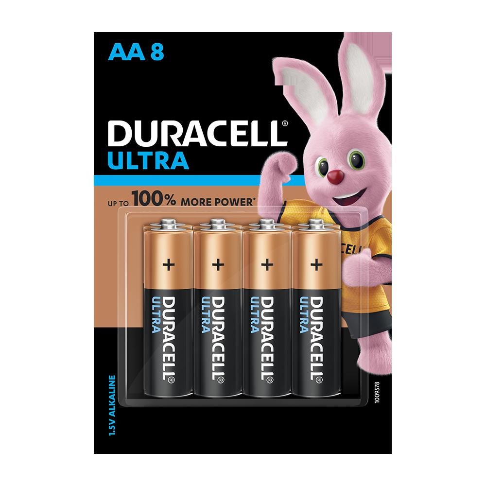Duracell Ultra Alkaline AA, 8 Batteries
