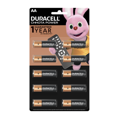 Duracell Chhota Power AA, 10 Batteries, 1.5V Alkaline