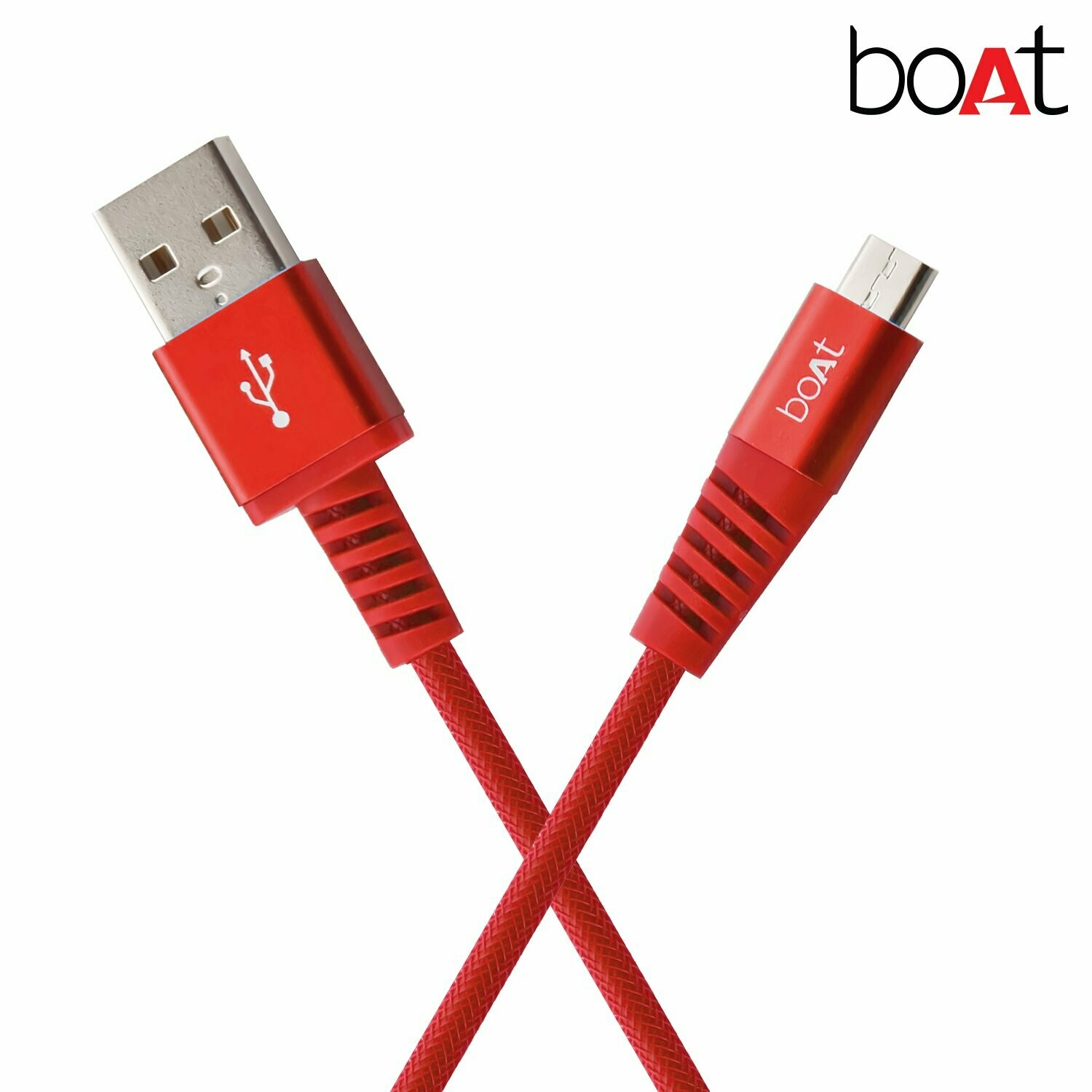 boAt para-Armour Micro USB Cable - 1.5m Red