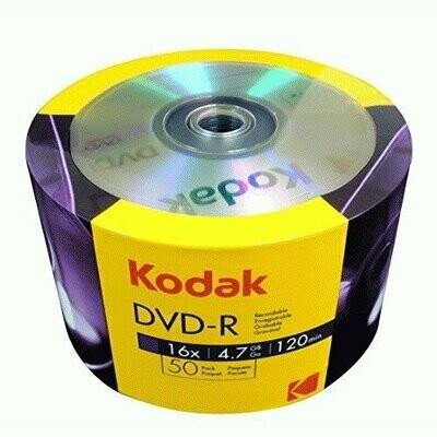 Kodak DVD-R 16x 4.7GB 50-Value Pack