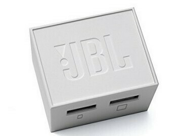 JBL Travel Adapter, Dual USB Port with Cable, Mobile Charger, White