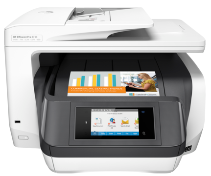 HP 8730 Color ink Printer, PSC, Wifi, Network, Duplex, Fax
