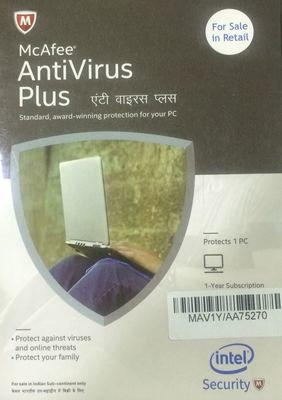 1 User, 1 Year, McAfee Antivirus Plus