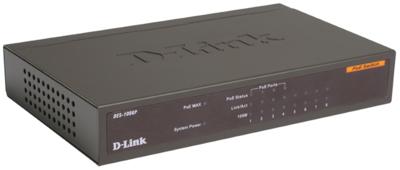 D-Link 8Port, 4Port PoE Unmanaged Switch, DES-1008P