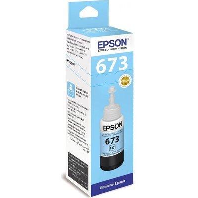Epson ink Bottle, 673, Light Cyan, for l800, l805, l810, l850, l1800