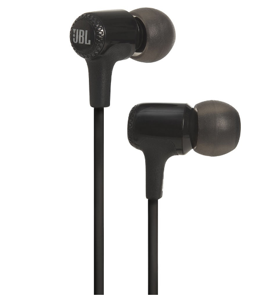 JBL E15 In-Ear Headphones with Mic, Black