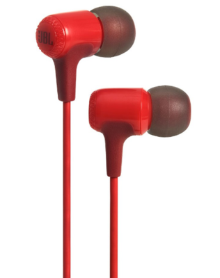 JBL E15 In-Ear Headphones with Mic, Red