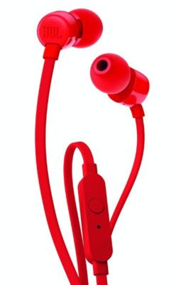 JBL T110 Earphone, Red