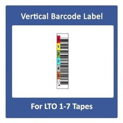 Vertical LTO Barcode label For LTO 1 to 7 Tapes