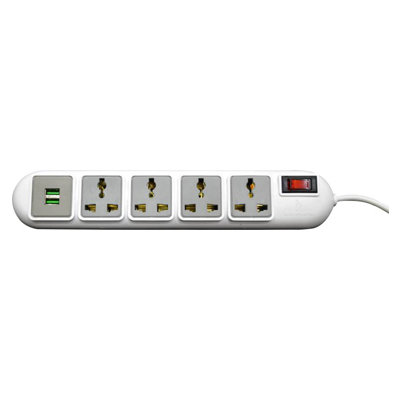 Rapoo Ideakard Smart Strip with 2 USB 2.0 Ports 4 Socket Surge Protector