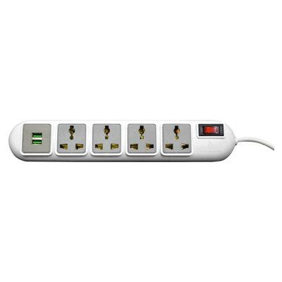Rapoo Ideakard Smart Strip with 2 USB 2.0 Ports 4 Socket Surge Protector