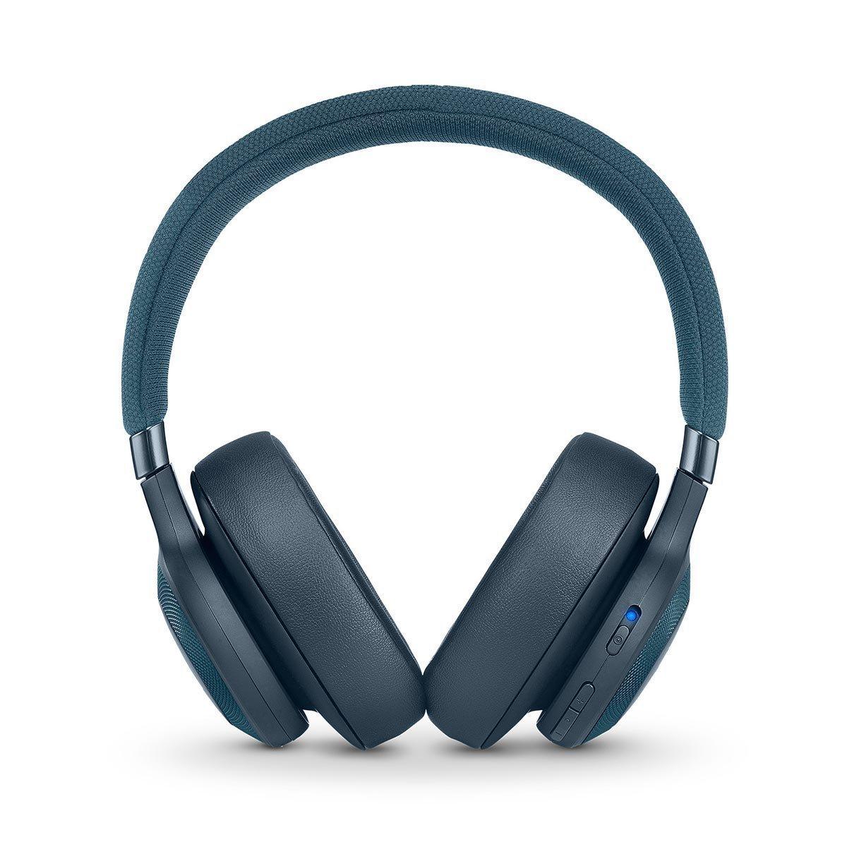 JBL E65BTNC Wireless Active Noise Cancelling Headphones, Blue