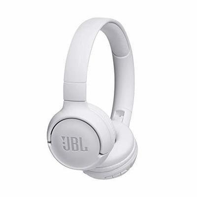 JBL Tune 500BT Powerful Bass Wireless On-Ear Headphones, White