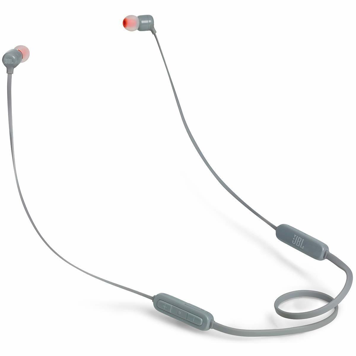 JBL T110BT Wireless in-Ear Headphones with Mic, Gray