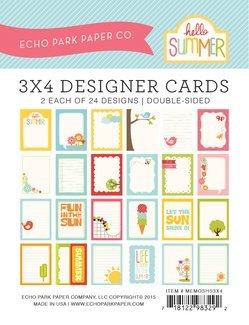 Echo Park Memos - Hello Summer 3x4 Cards