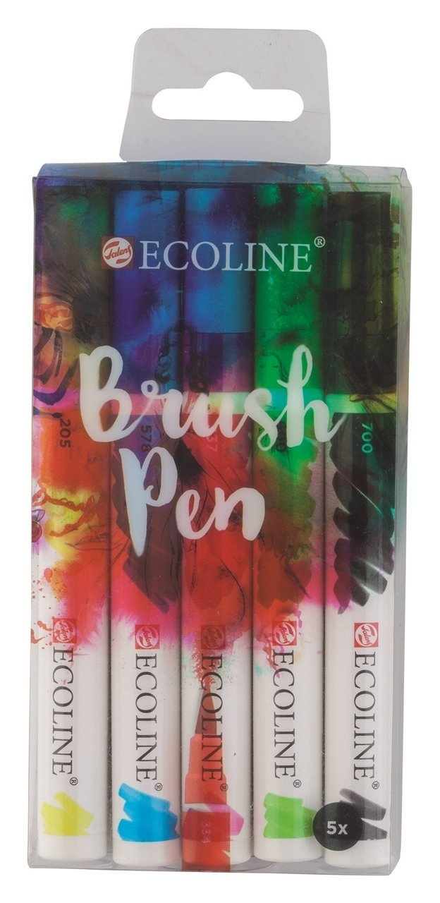 Ecoline Brush pen set of 5