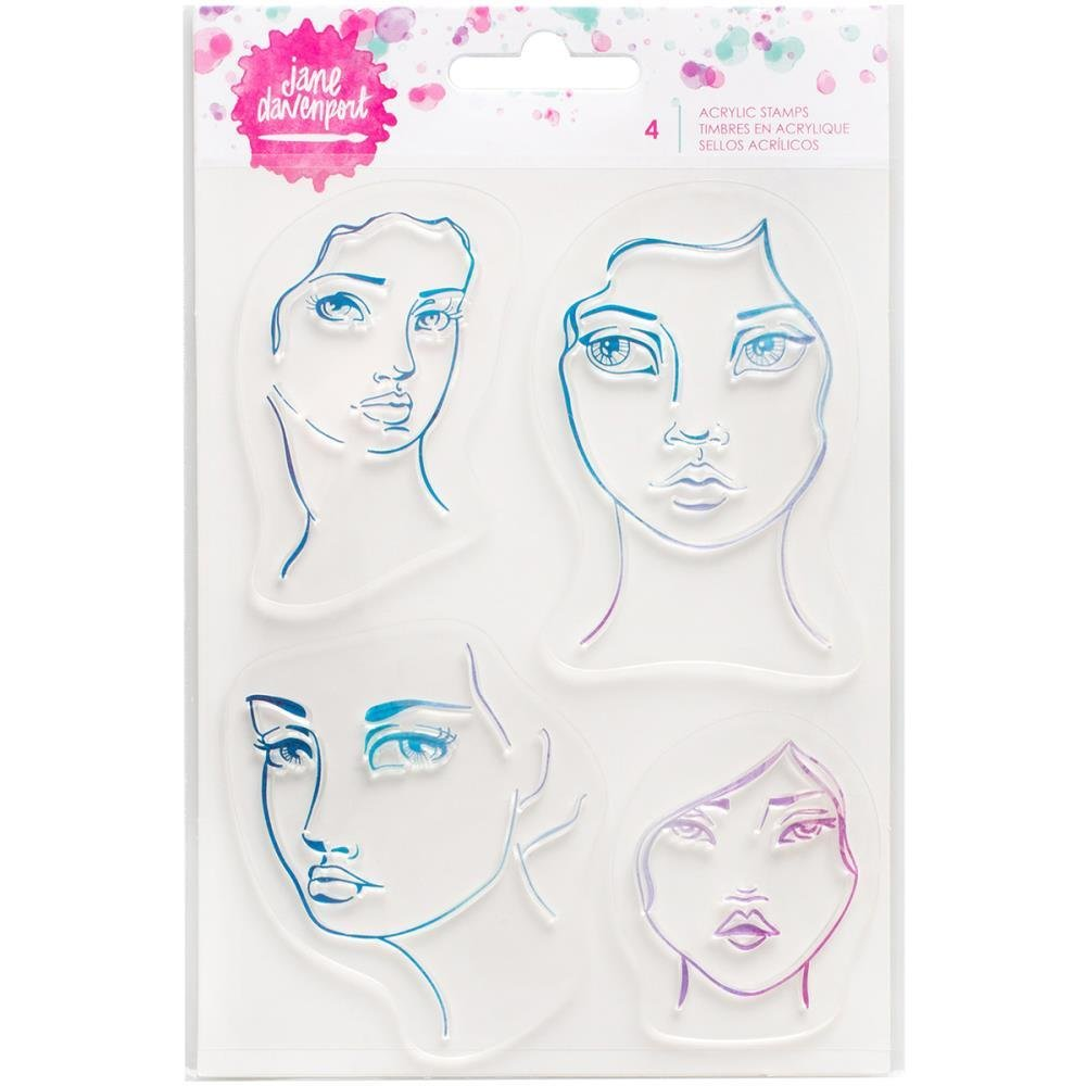 set of 4 Face stamps