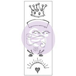 Prima Creating In Faith: 2.25x6 Cling Stamps-Royal