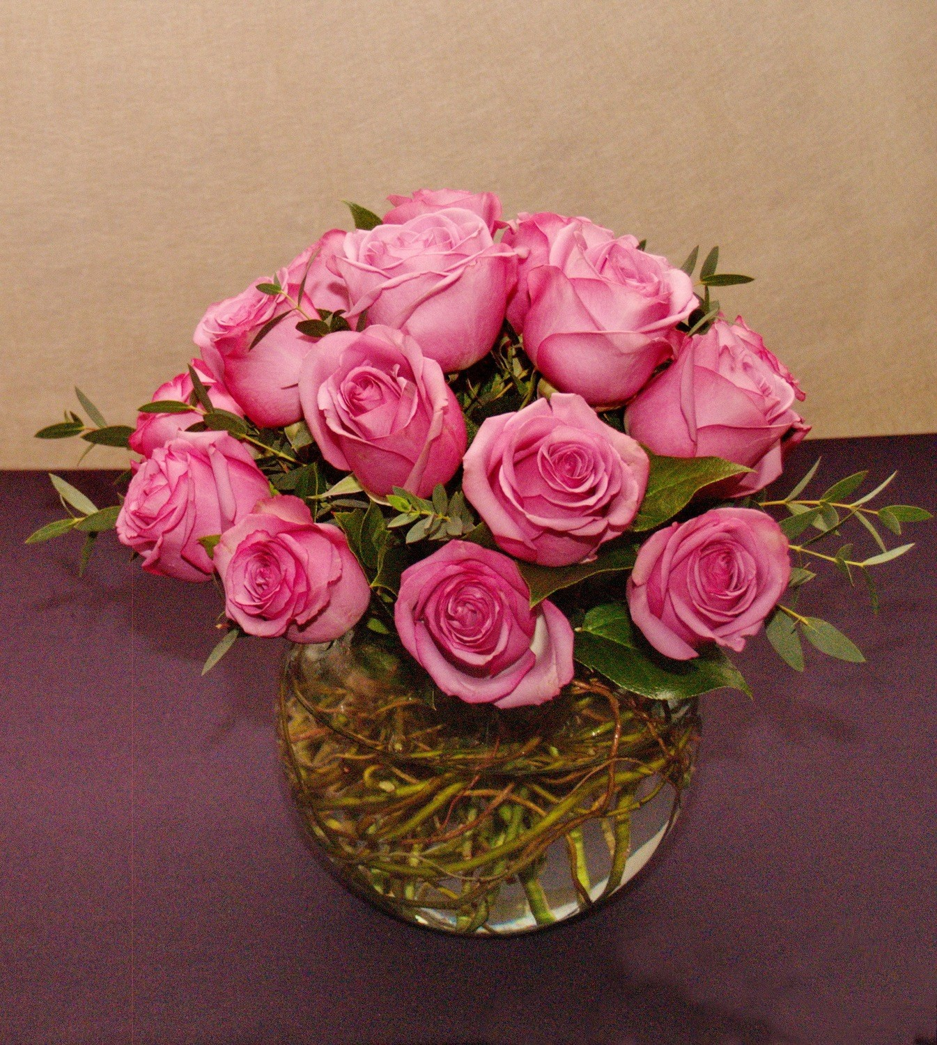 Bubble Bowl of Roses