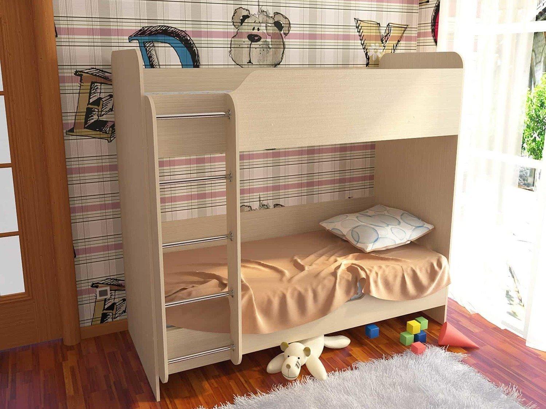 Детская 2-х ярусная кровать  ЛДСП