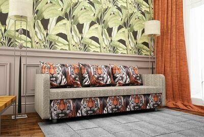 Микровелюр тигр комби