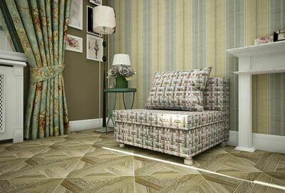 Кресло-кровать рогожка крупная