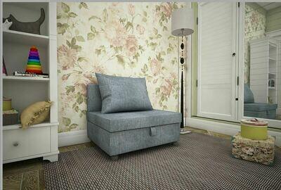 Кресло-кровать рогожка темно серая