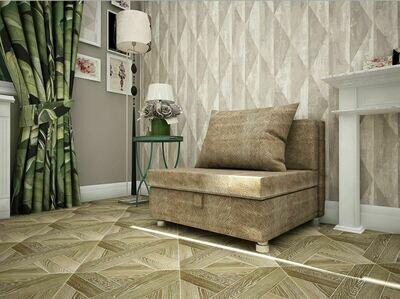 Кресло-кровать флок светло коричневый
