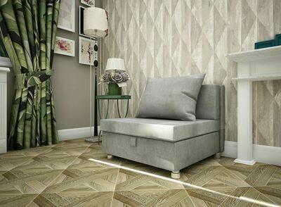 Кресло-кровать Флок светло серый