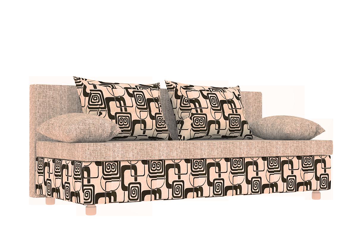 Диван Еврокнижка ткань рогожка квадраты и однотонная