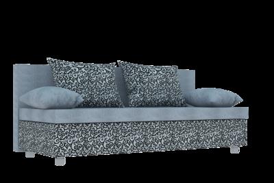 Диван Еврокнижка ткань рогожка орнамент мини и однотонная