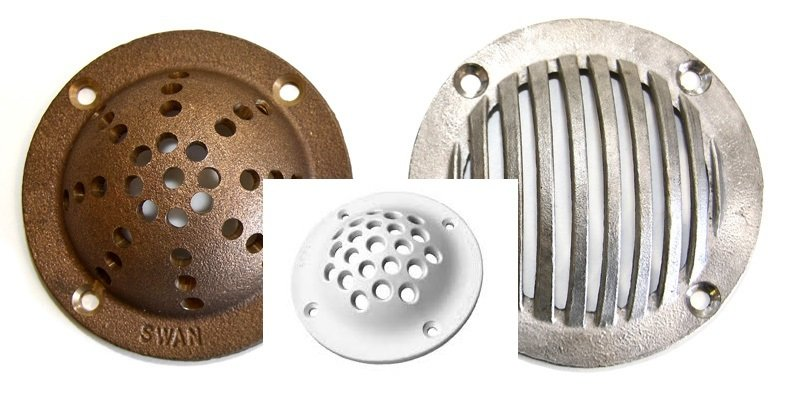 Brass/Stainless Steel & Nylon Scoop Strainers