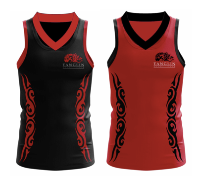 TRC U16T and U19T Touch Tops (Pair - One Red, One Black). Singlet.