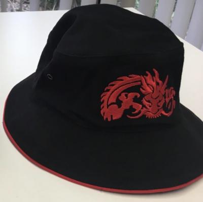TRC Bucket Hat - Black with Red Trim