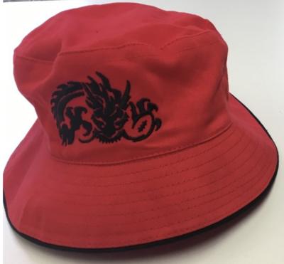 TRC Bucket Hat - Red with Black Trim