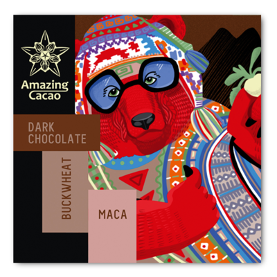 Перуанский шоколад с гречкой и макой