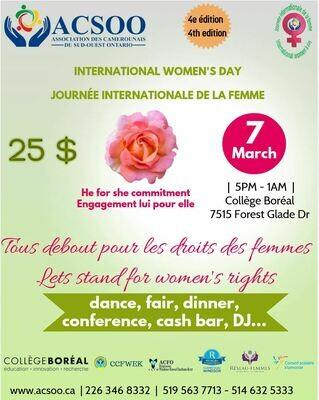 Billet Journée internationale de la femme / Ticket International women's day
