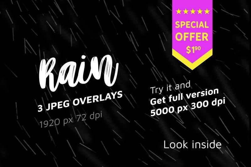 3 Overlays from 45 Rain Photo Overlays