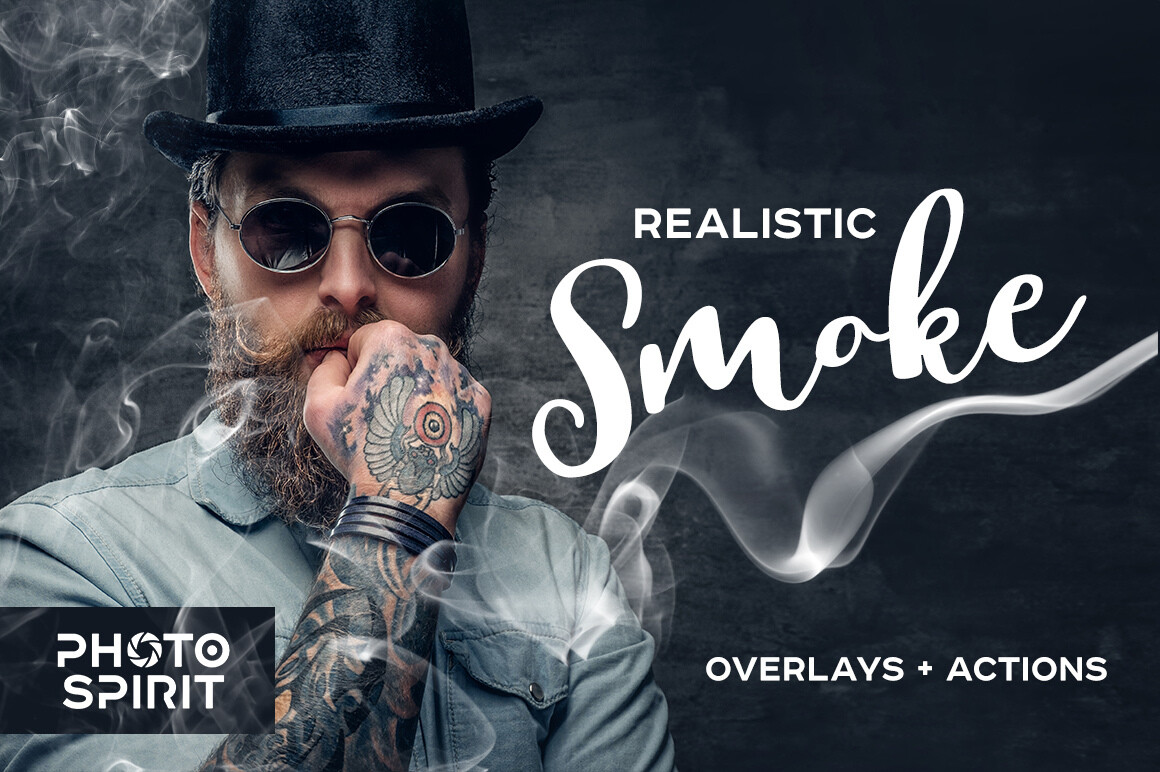Realistic Smoke Overlays Photoshop