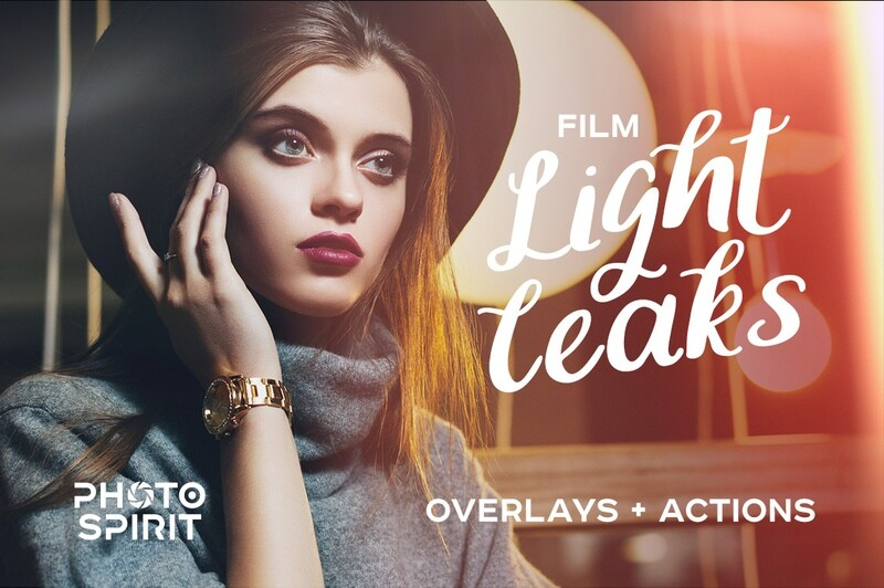 Film Light Leaks Overlays