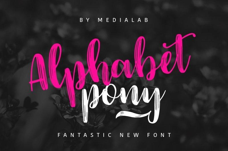 Alphabet Pony Script Font