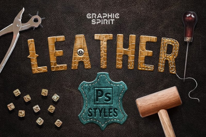Leather Layer Styles For Photoshop