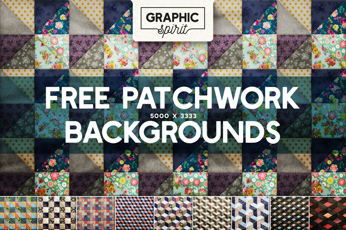 10 Free Patchwork Backgrounds