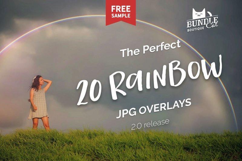 20 Rainbow Photo Overlays 2.0