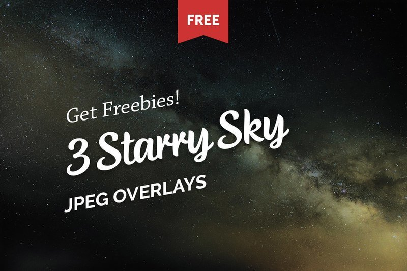 Free Starry Sky Photo Overlays