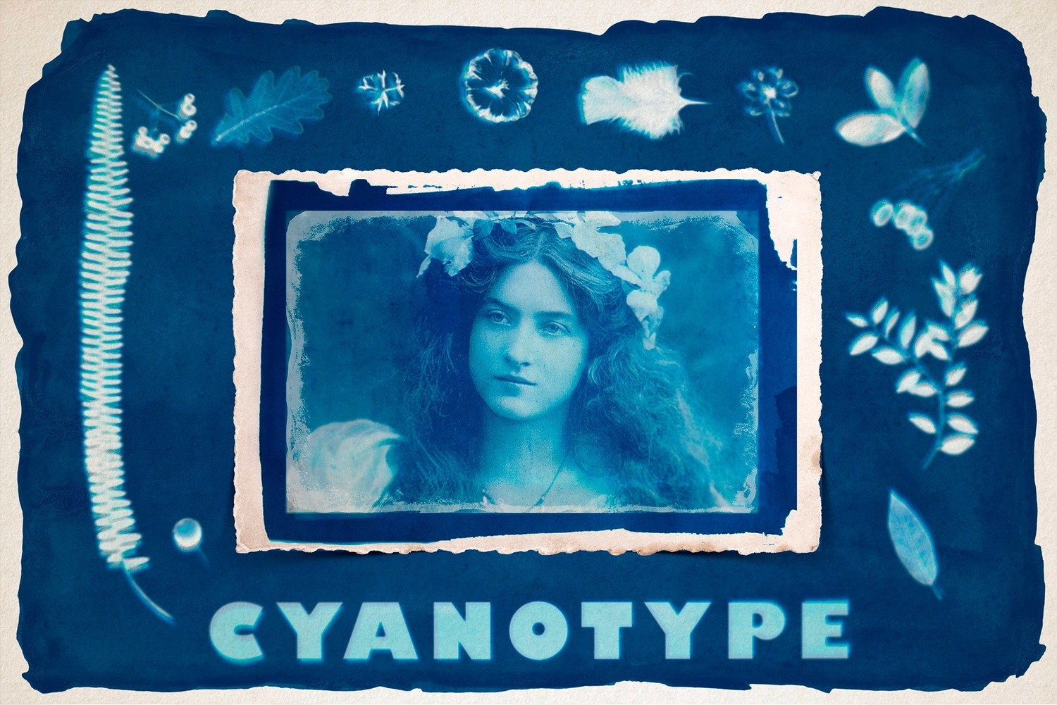 CYANOTYPE Digital Photoshop Effect