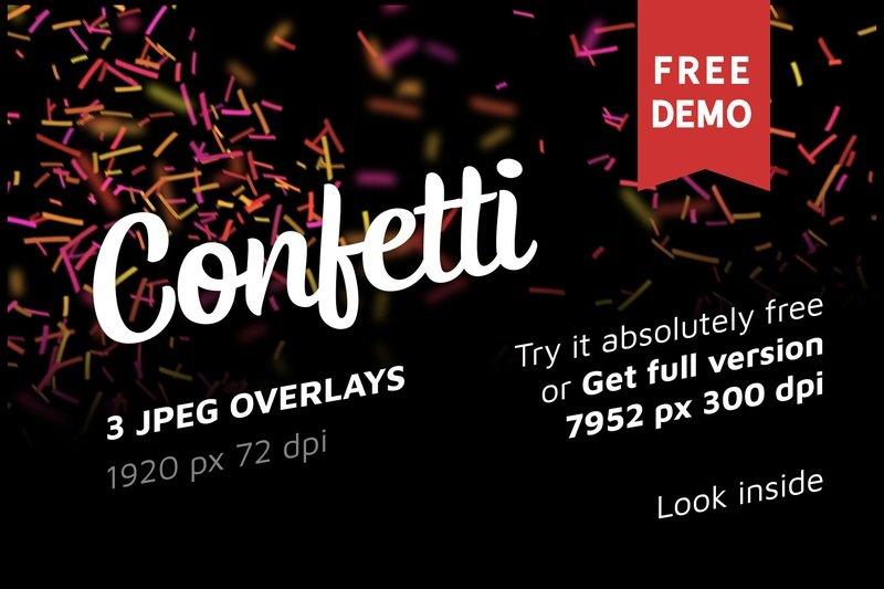Free Confetti Photo Overlays