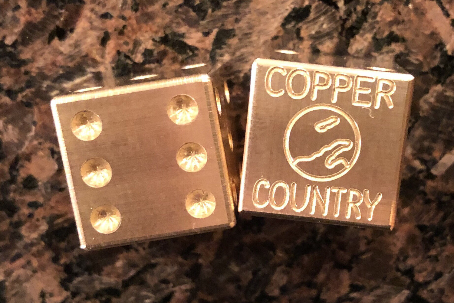 Dice Set - Copper Country (2 Pieces)