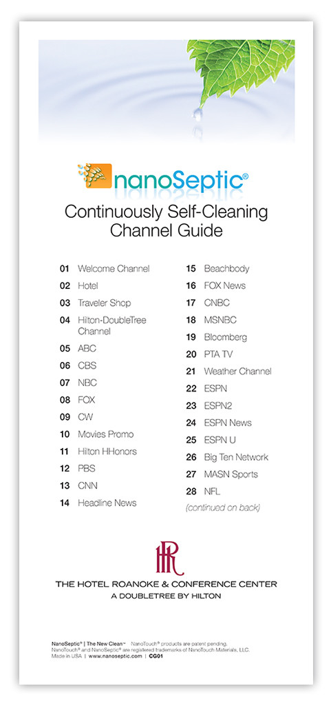 """TV Channel Guide (4""""x9"""")"""